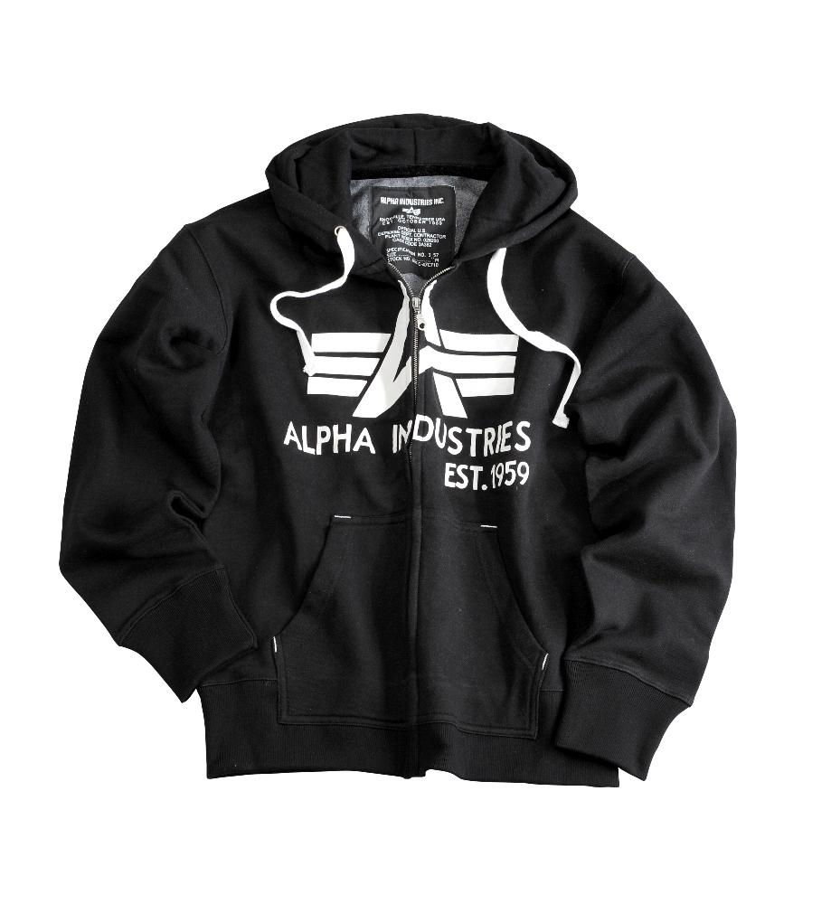 36993b00af Alpha Industries Big A Classic Zip Hoody (103307) JETfly Military ...