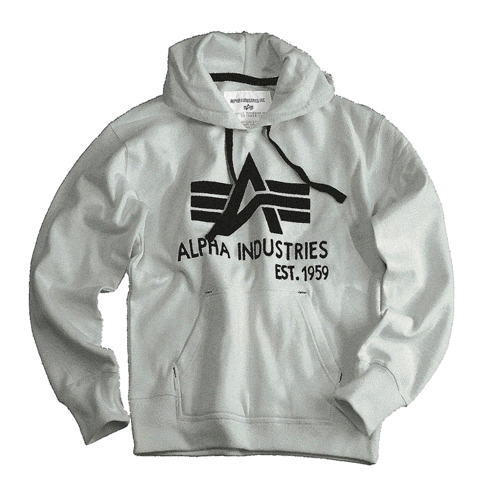 b104601feb AKCIÓ: Alpha Industries Big A Classic Hoody (103308) - fekete 3XL ...
