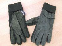 Kesztyű velúr - fekete XL