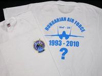 MiG-29 - Dongó Squadron 1993-2010? (Fruit of the Loom) T-shirt