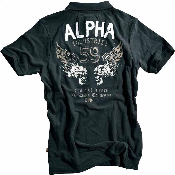 8d6ff3104a Alpha Industries Inc. Burning Skull Polo JETfly Military Webshop