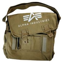 Alpha Industries Inc. Big A Canvas Courier Bag (101901)