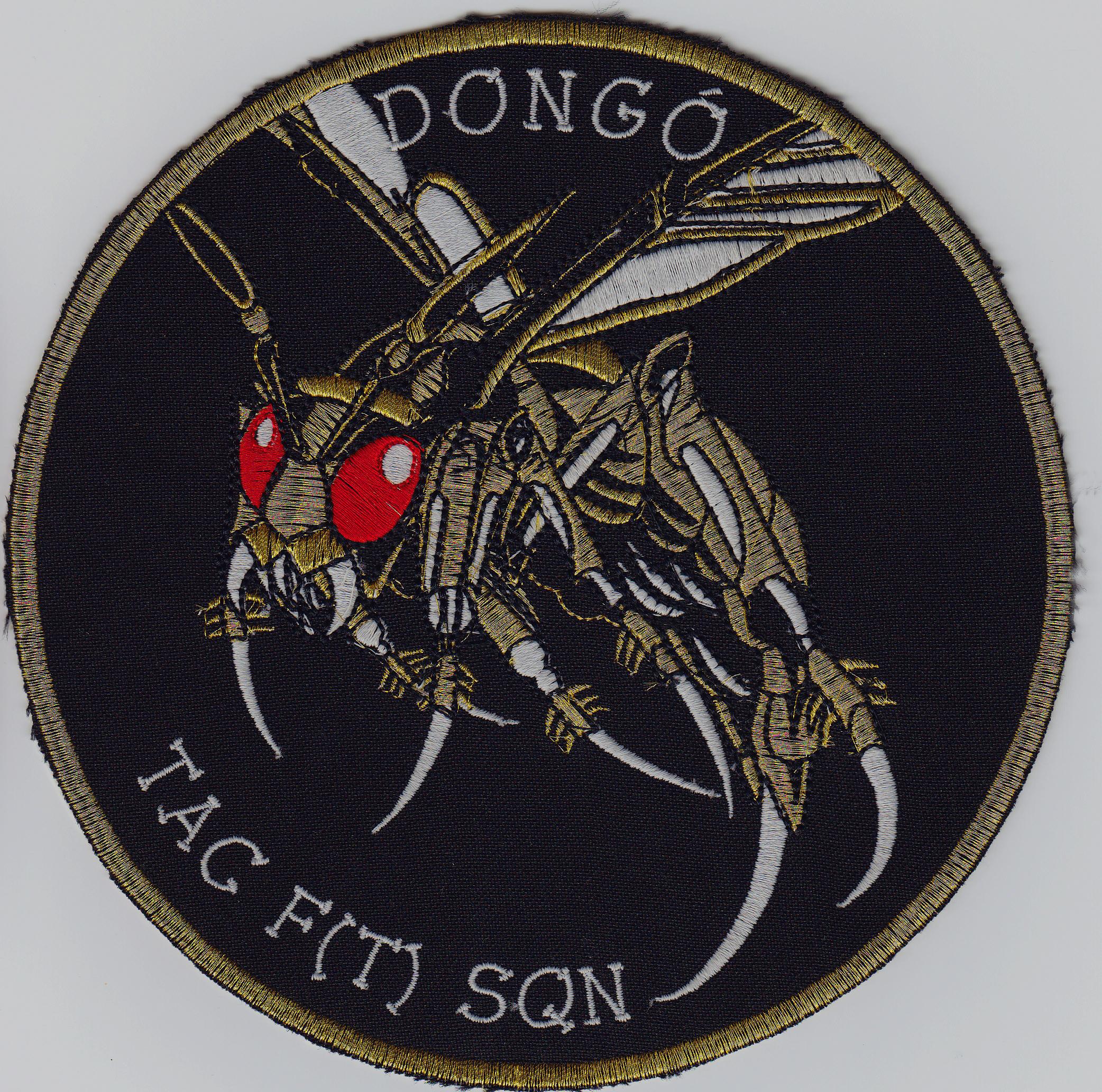 3ba8fda8681f Dongó Tac F(T) Sqn felvarró 19 cm (Arany hímzés) JETfly Military Webshop