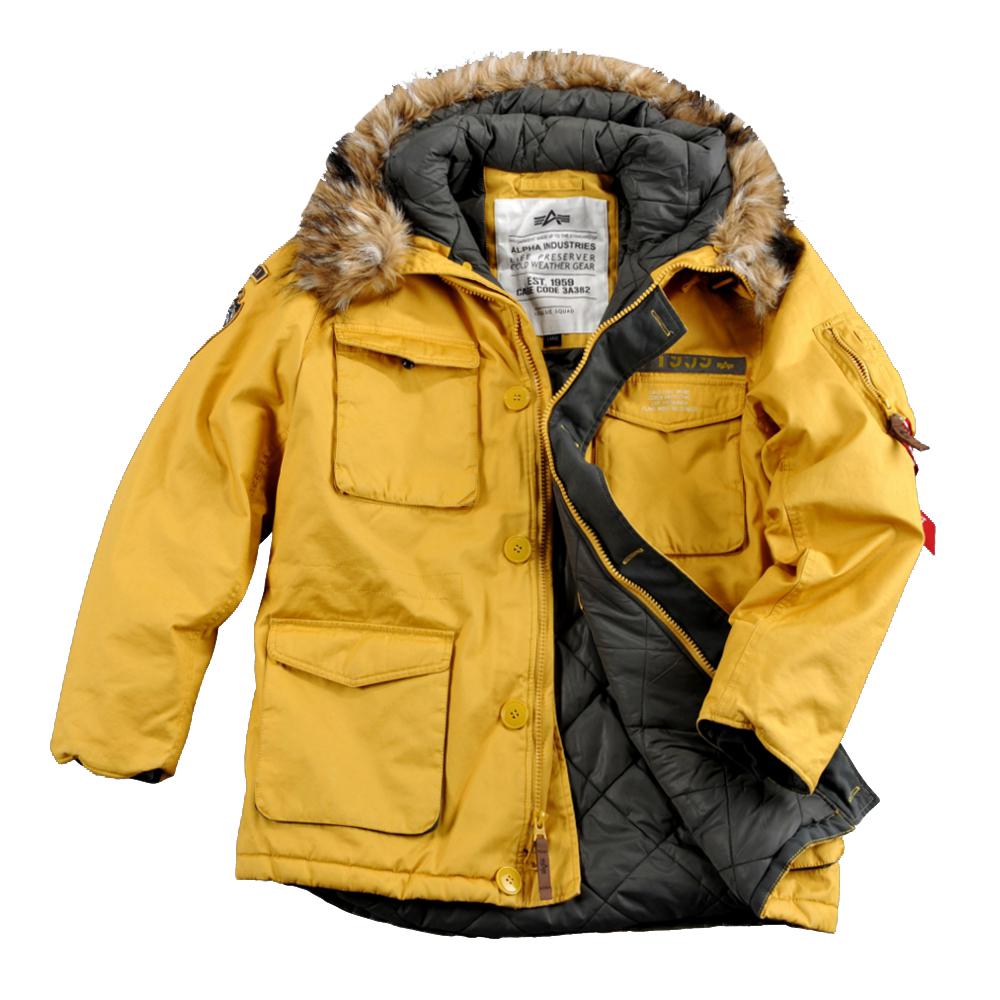 AKCIÓ  Alpha Industries Inc. Mountain Parka (133143) - sárga 2XL ... 82256b16ff