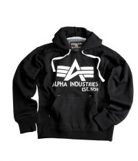 AKCIÓ: Alpha Industries Big A Classic Hoody (103308) - fekete 3XL